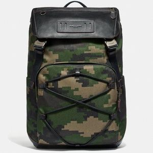 NWT Coach Terrain Backpack W/ Pixelated Camo Print
